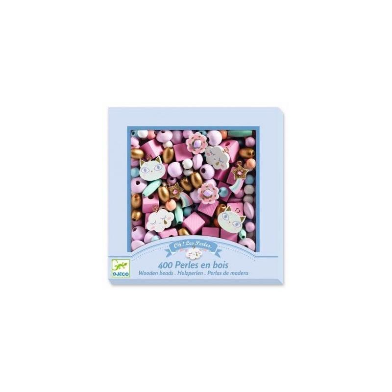 Oh ! Les perles - 400 perles en bois Arc-en-ciel