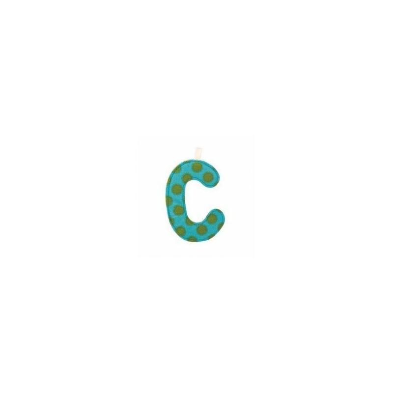 Lettre en tissu C