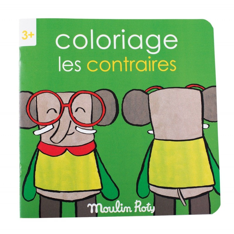 Cahier de coloriage les contraires - Les Popipop
