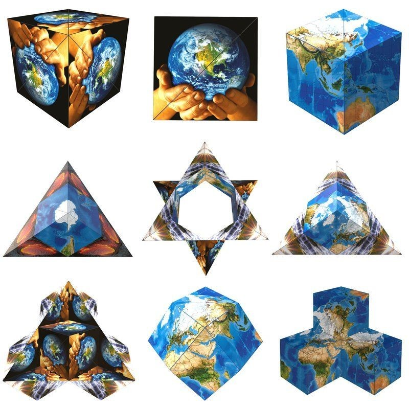 Casse-tête Geobender cube - World