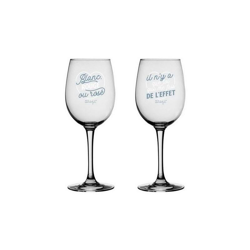 Set de 2 verres à vin - Blanc, rouge ou rosé - Il n'y a que toi qui me fait de l'effet