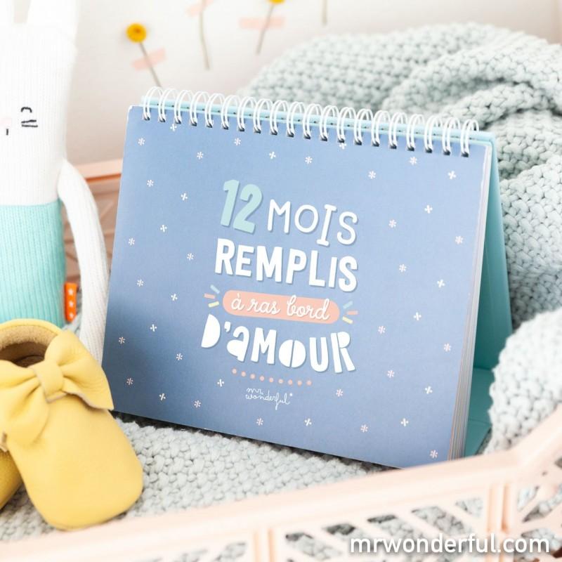 Album photo bébé - 12 mois remplis à ras bord d'amour