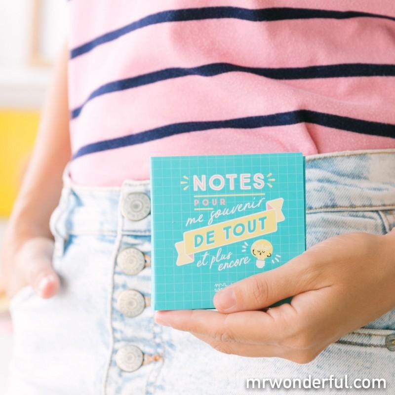 Blocs-notes et notes adhésives - Pour me souvenir de tout