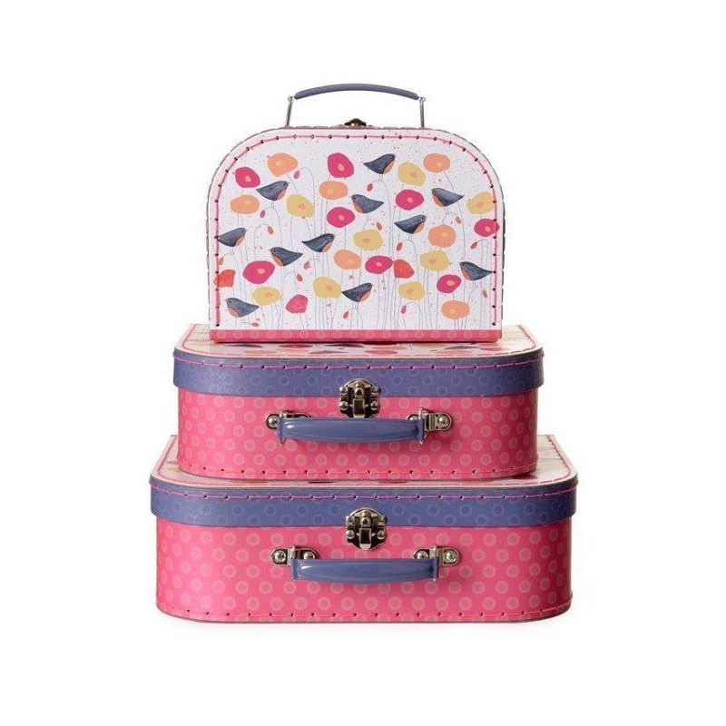 Petite valise coquelicots