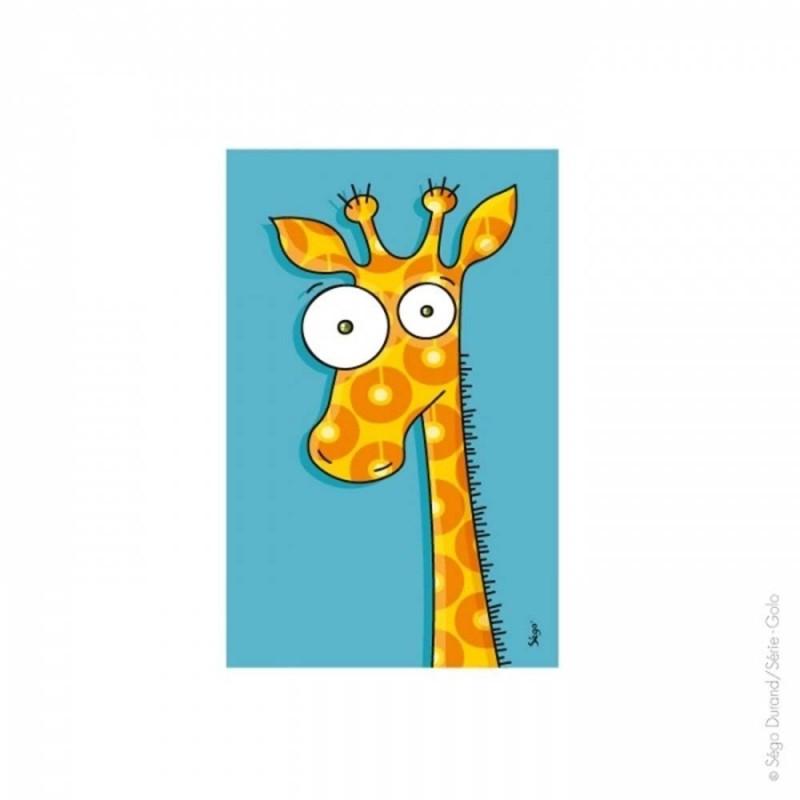 Tableau girafe 22x14cm