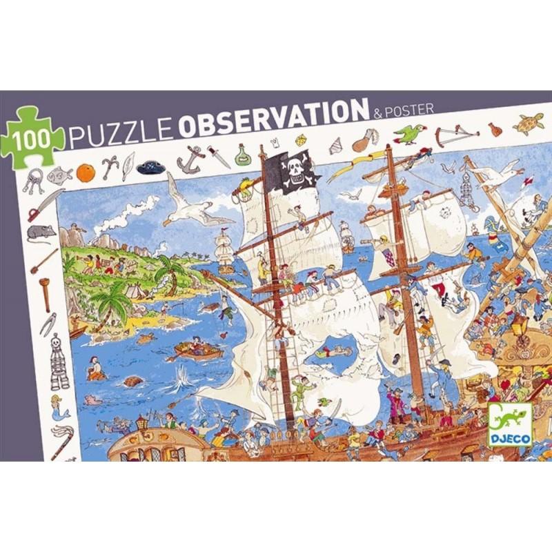 Puzzle observation 100pcs Pirates