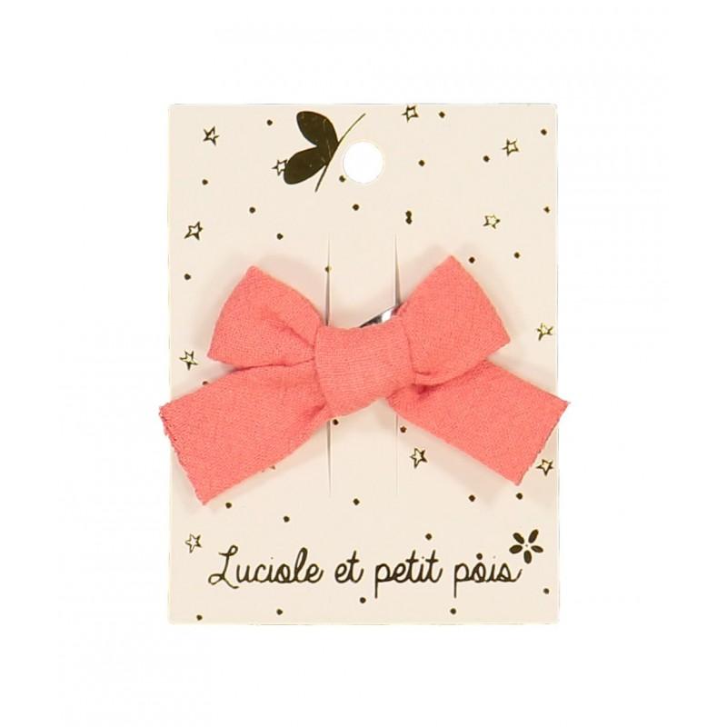Barrette mini princesse - Corail