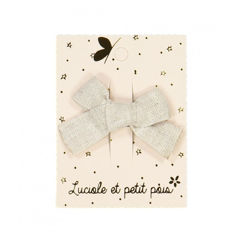 Barrette mini princesse - Lin taupe