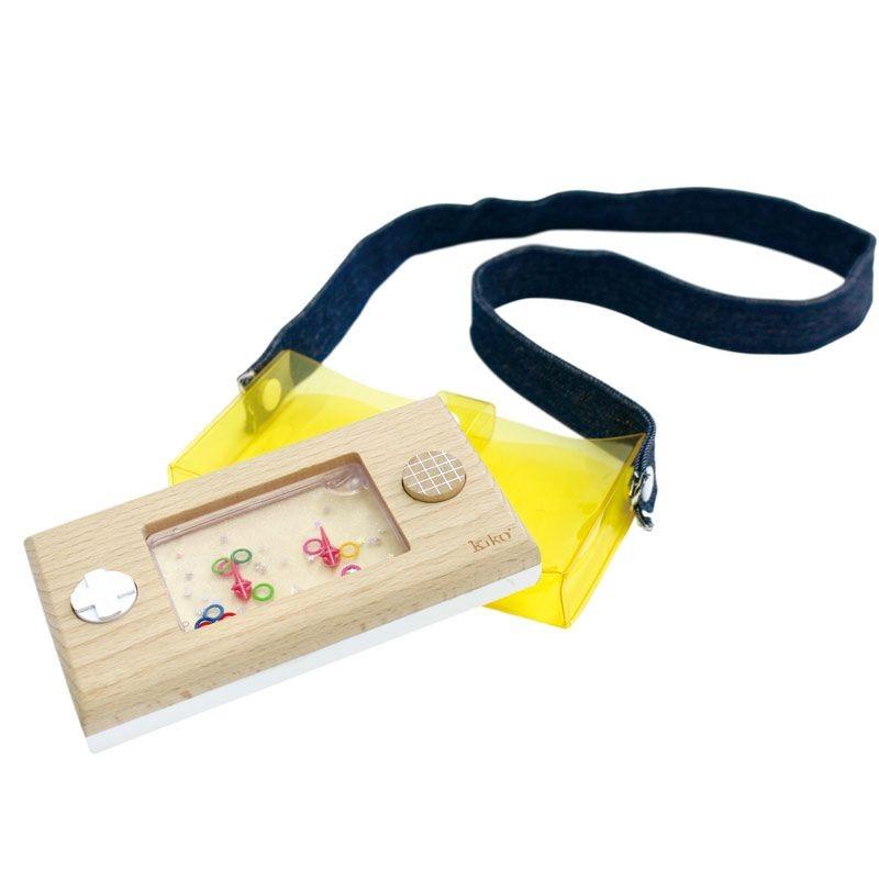Console à eau en bois - Wakka retro jaune
