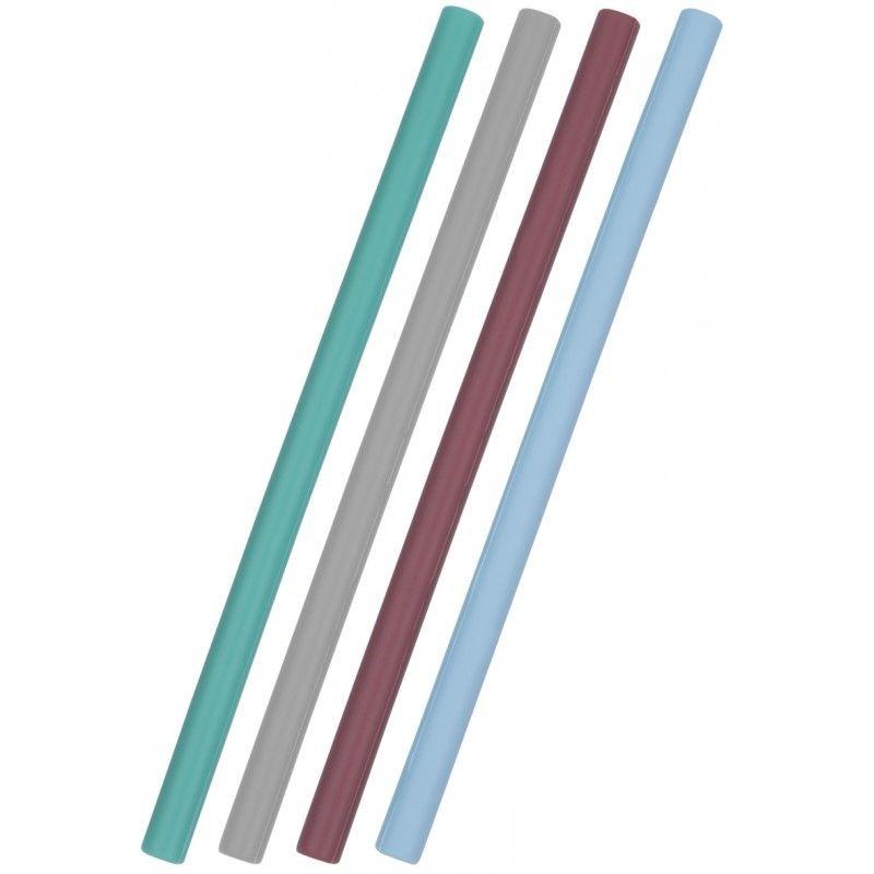 """Minikoioi - Pailles en silicone mix """"bleu"""""""