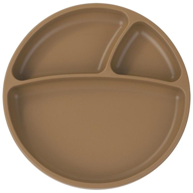 Minikoioi - Assiette antidérapante en silicone caramel