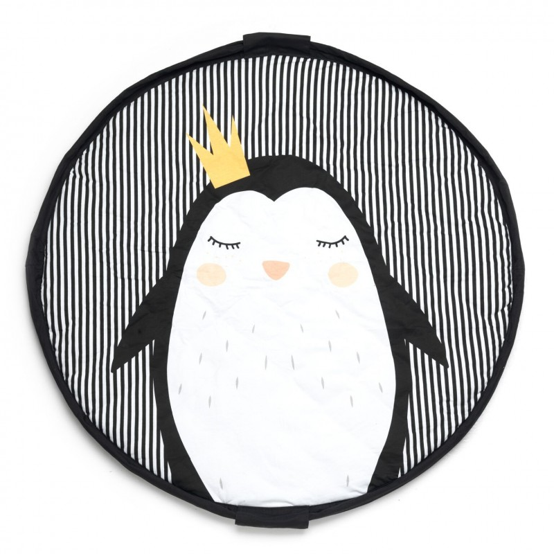 Sac play&go soft Pingouin (tapis et rangement)