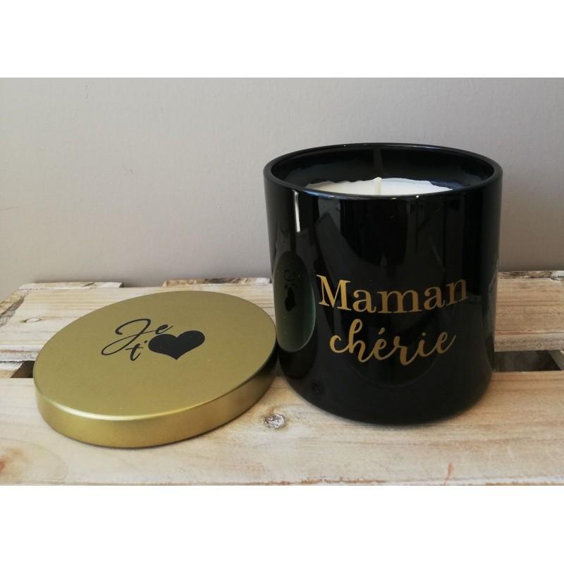 Bougie parfumée noire - Maman chérie