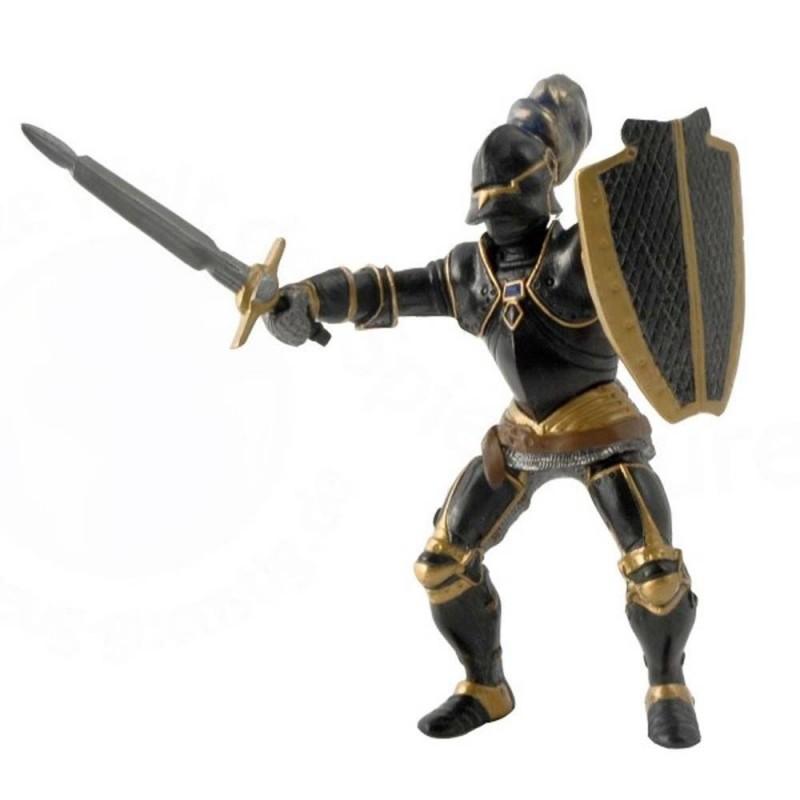 Chevalier en armure noire - Le monde médiéval