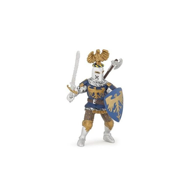 Chevalier bleu au cimier - Le monde médiéval