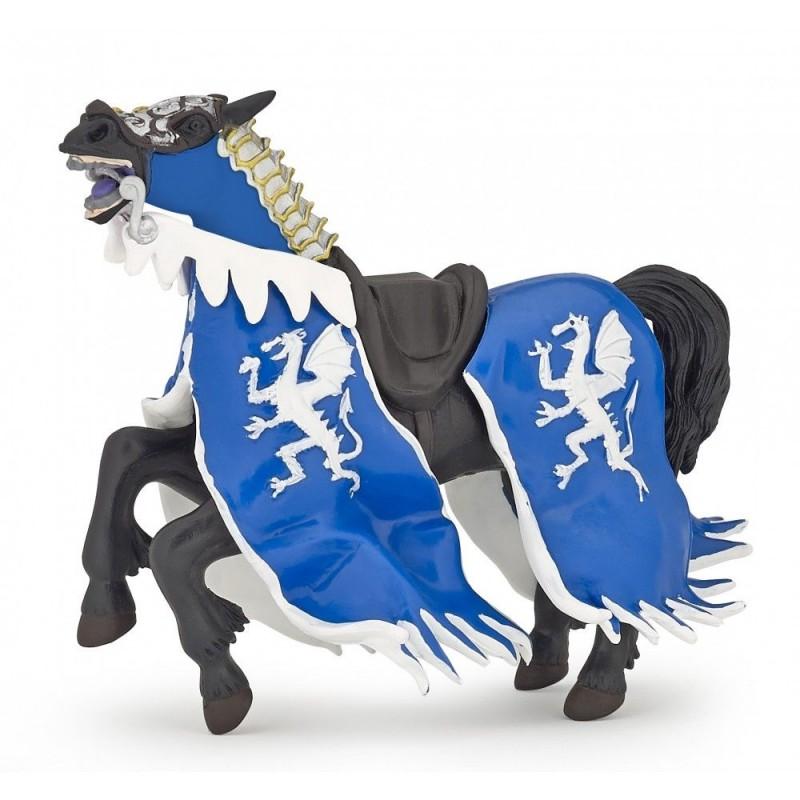 Cheval du roi au dragon bleu - Le monde médiéval