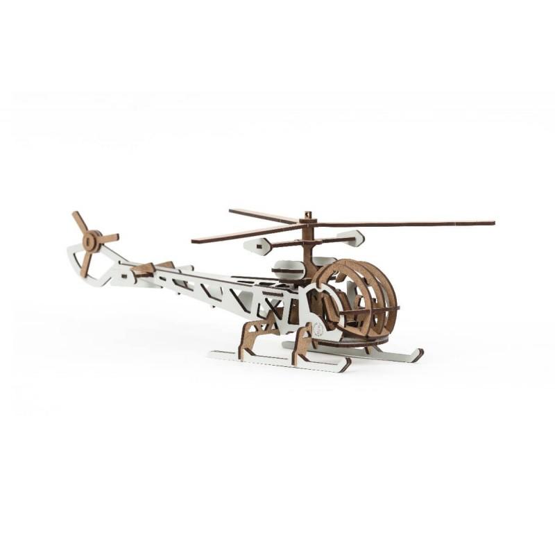 * Maquette hélicoptère motif blanc