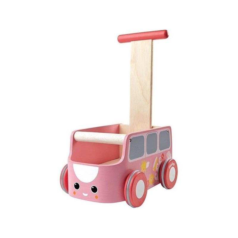 Chariot de marche rose