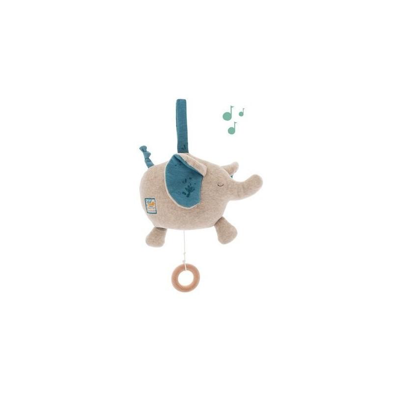 Poupée musique éléphant Sous mon baobab